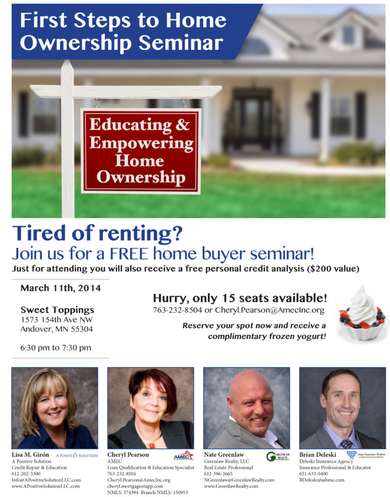 North Metro First Time Home Buyer Seminar Greenlaw Realty